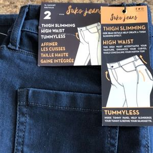 NWT Suko Jeans thigh slimming high waist jeans